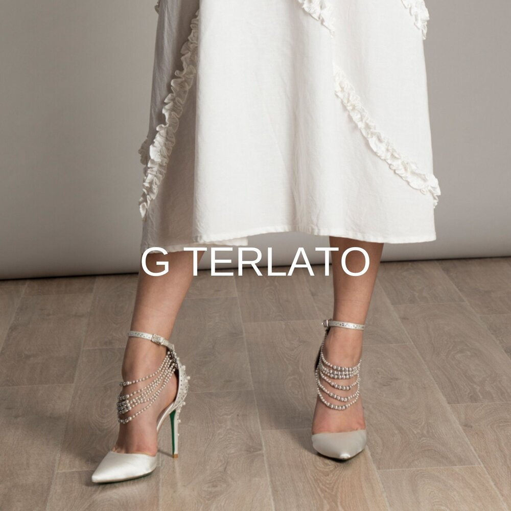 - Gesualdo Terlato is an Australian born designer of Italian Sicilian Heritage, with three generations of couture experience that started with Sicilian nobility.A long-standing haute couture designer in his own right, Gesualdo draws on these design techniques for G Terlato, which has evolved into a boutique collection of shoes.Each pair is lovingly hand crafted with the finest materials and design details; Italian leather, silk and suede, with feature Swarovski crystals, beads and pearls.